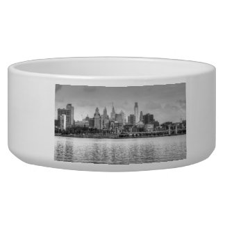 Philadelphia skyline in black and white bowl