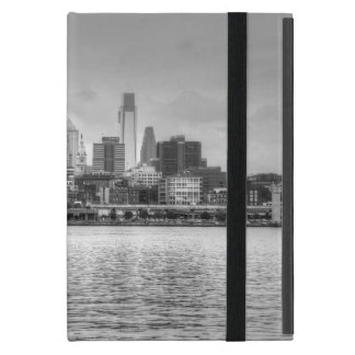 Philadelphia skyline in black and white cover for iPad mini