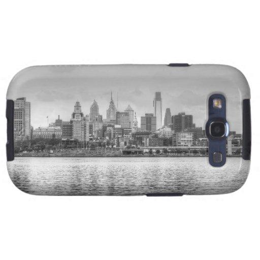 Philadelphia skyline in black and white galaxy s3 cover