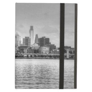 Philadelphia skyline in black and white iPad air cover