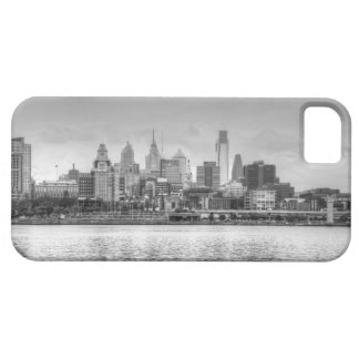Philadelphia skyline in black and white iPhone SE/5/5s case