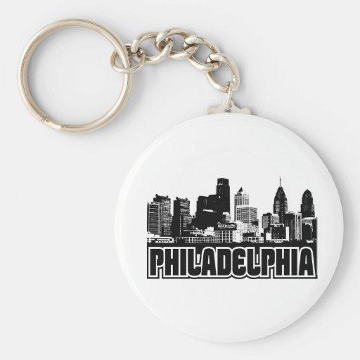 Philadelphia Skyline Key Chain
