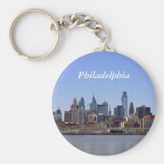 Philadelphia Skyline Basic Round Button Keychain