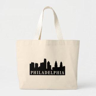 Philadelphia Skyline Large Tote Bag