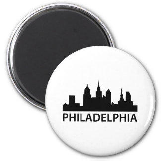 Philadelphia Skyline Refrigerator Magnet