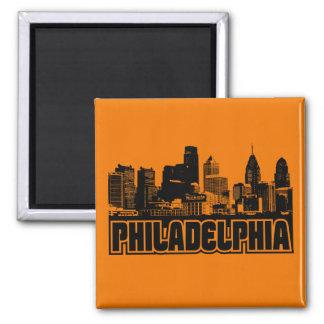 Philadelphia Skyline Magnets