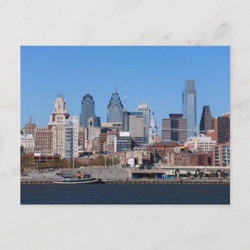 Philadelphia Skyline, Medium View postcard