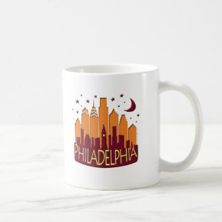 Philadelphia Skyline Mega Hot Coffee Mug