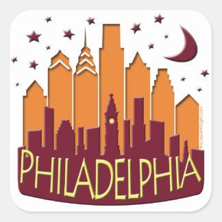 Philadelphia Skyline Mega Hot Square Sticker