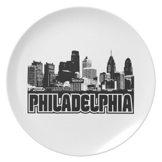 Philadelphia Skyline Melamine Plate
