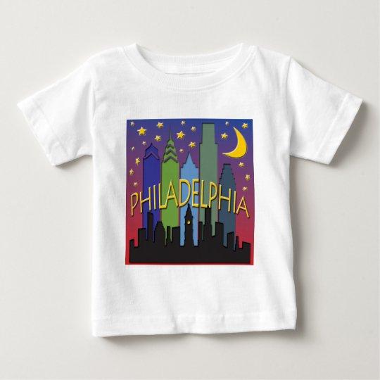 Philadelphia Skyline nightlife Baby T-Shirt