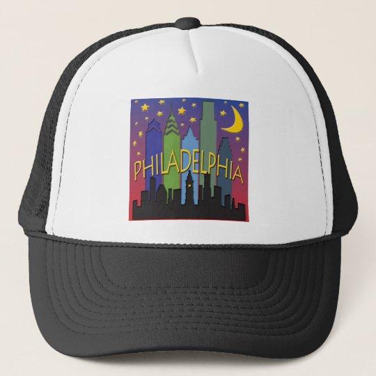 Philadelphia Skyline nightlife Trucker Hat