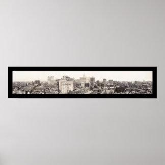 Philadelphia Skyline Photo 1913 Print