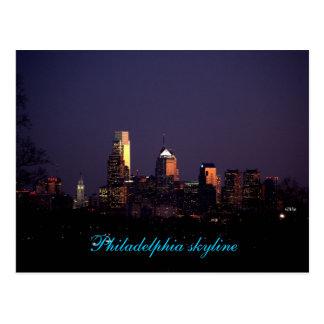 Philadelphia skyline post card