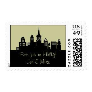 Philadelphia Skyline Postage Stamp