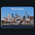 "Philadelphia Skyline Premium Magnet<br><div class=""desc"">Philadelphia skyline under clear blue skies</div>"
