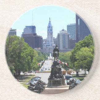 Philadelphia Skyline Sandstone Coaster