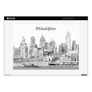 Philadelphia Skyline Sketch Laptop Skin
