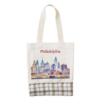 Philadelphia Skyline Sketch Tote Bag