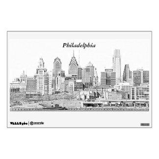 Philadelphia Skyline Sketch Wall Decal