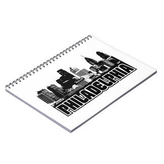 Philadelphia Skyline Spiral Notebook