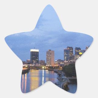 Philadelphia skyline star sticker