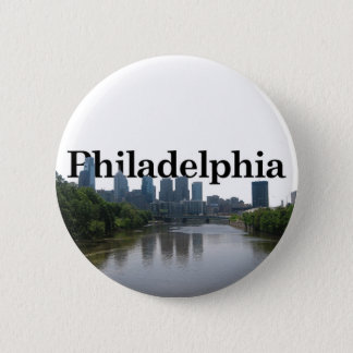 Philadelphia Skyline - with Phil. in the backgrnd Pinback Button