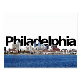 Philadelphia Skyline with Philadelphia in the Sky Postcard