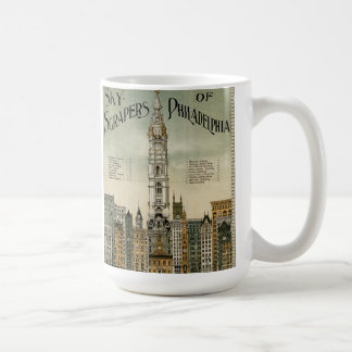 Philadelphia Skyscrapers (1898 Vintage Poster) Coffee Mug