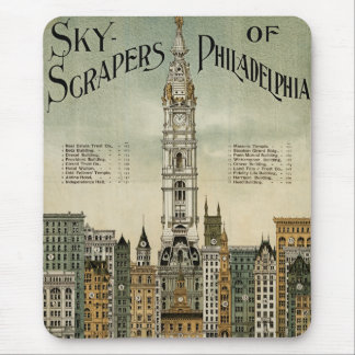 Philadelphia Skyscrapers (1898 Vintage Poster) Mouse Pad