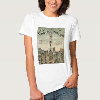 Philadelphia Skyscrapers (1898 Vintage Poster) Tee Shirt