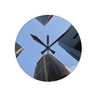 Philadelphia skyscrapers 2 round clock