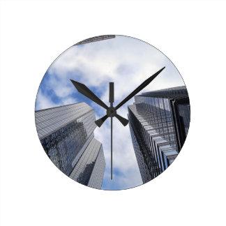 Philadelphia skyscrapers 3 round clock