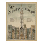 philadelphia skyscrapers vintage poster from 8.99