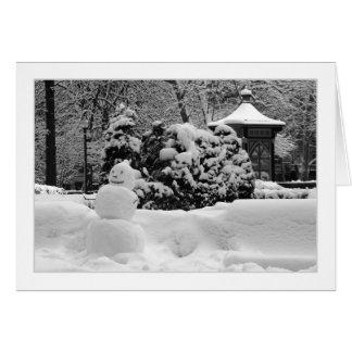 Philadelphia Snowman GREETING CARD
