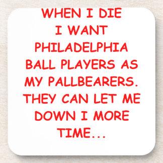 philadelphia sports beverage coasters
