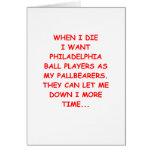 philadelphia sports greeting card