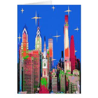 Philadelphia Starry Night Card