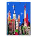 Philadelphia Starry Night Greeting Card