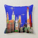 Philadelphia Starry Night Pillow