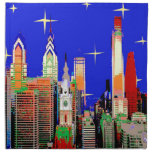 Philadelphia Starry Night Printed Napkin