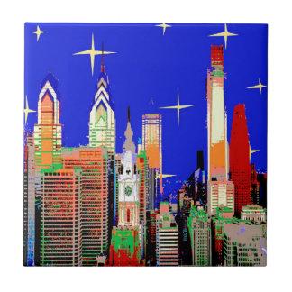 Philadelphia Starry Night Tile