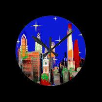 Philadelphia Starry Night wall clocks