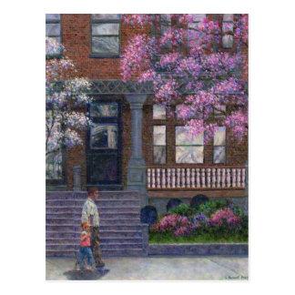 Philadelphia Street in Spring Postcard