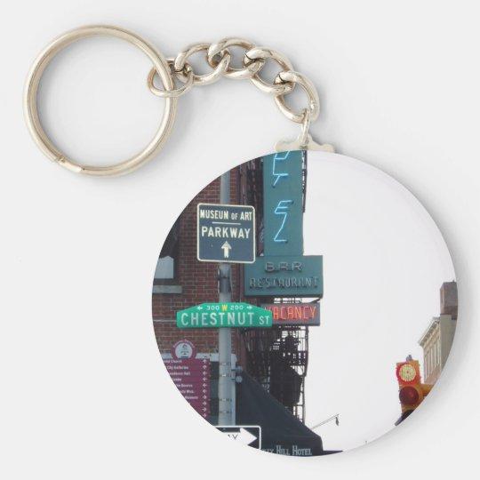 Philadelphia Street Keychain