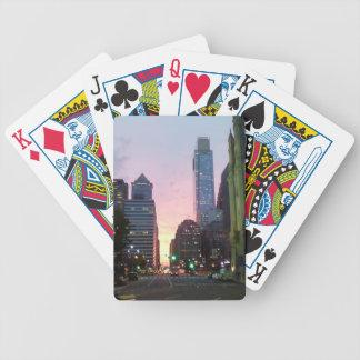 Philadelphia Sunset Bicycle Playing Cards