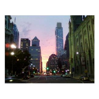 Philadelphia Sunset Postcard