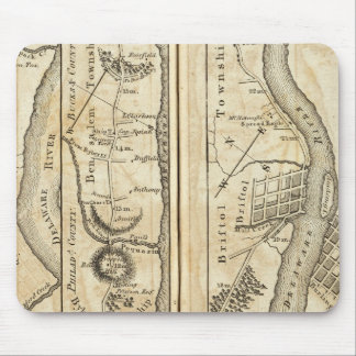 Philadelphia to New York Road Map Mouse Pad