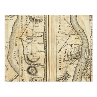 Philadelphia to New York Road Map Postcard