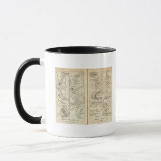Philadelphia to Washington Road Map 2 Mug